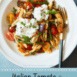 Italian Tomato and Eggplant Skillet Pasta pin image