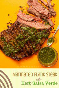 Marinated Flank Steak with Herb Salsa Verde pin image