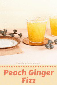 peach ginger fizz pin image