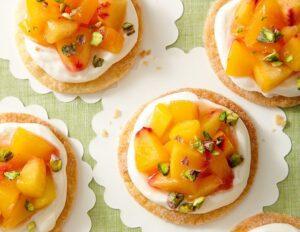 peach tarts on white plate