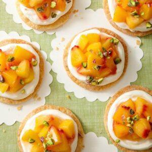 peach tarts on white paper