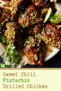 sweet chili pistachio grilled chicken pin