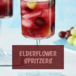 grape and elderflower mocktail drink