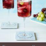 Elderflower and grape mocktail