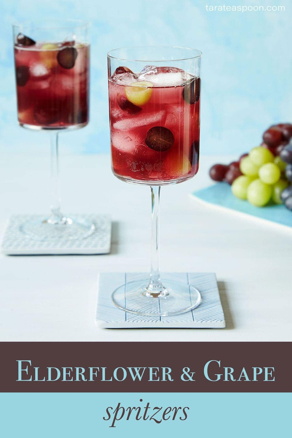 Elderflower and grape mocktail