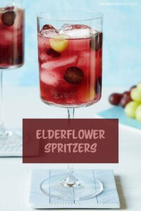 grape and elderflower mocktail drink