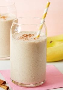 protein booster almond and banana smoothie