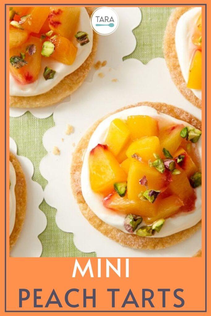 easy mini peach tarts recipe pin