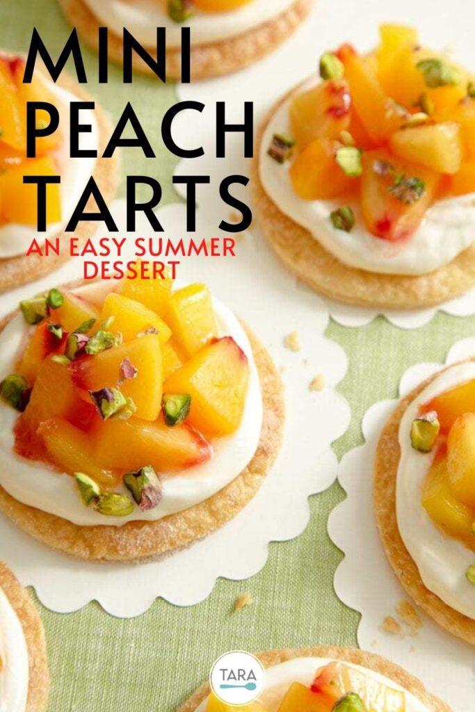 easy summer dessert mini peach tarts recipe pin
