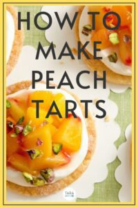 how to make peach tarts recipe pin
