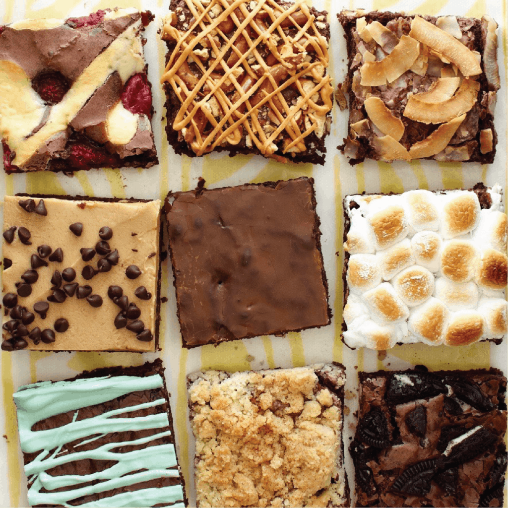 Box brownie variations, Think Outside of the Box Brownies