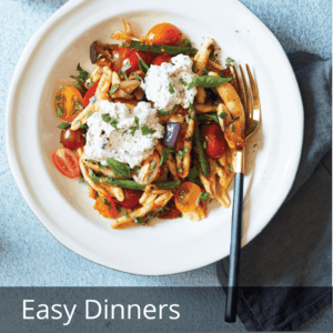 gemeli pasta with cherry tomatoes and green beans