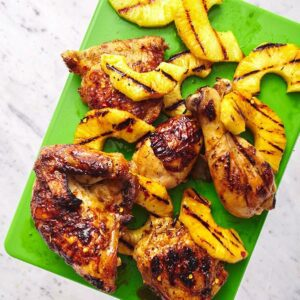 tropical chicken with grilled pineapple