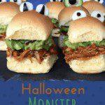Halloween monster chicken sliders pin