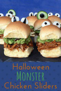 Halloween monster chicken sliders pin