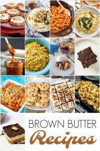brown butter recipe collage image