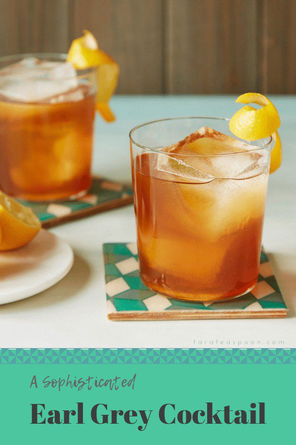 Pin this Earl Grey Cocktail with lemon, rum and tea.