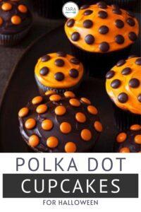 halloweedn polka dot cupcakes pin