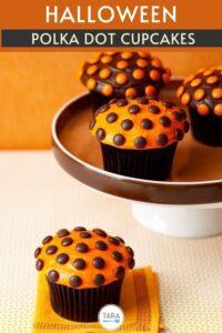 halloween polka dot cupcakes pin