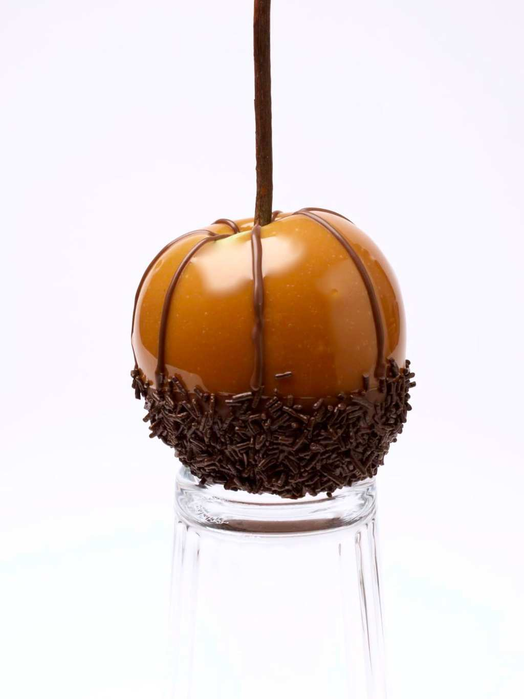 spiderweb caramel apples how to with chocolate stripes