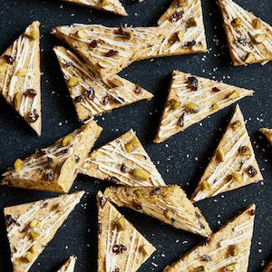 Pistachio and cherry cookie bars