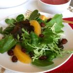 winter salad with cranberry vinaigrette pin image