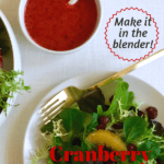 Winter Salad with Cranberry dressing pin image