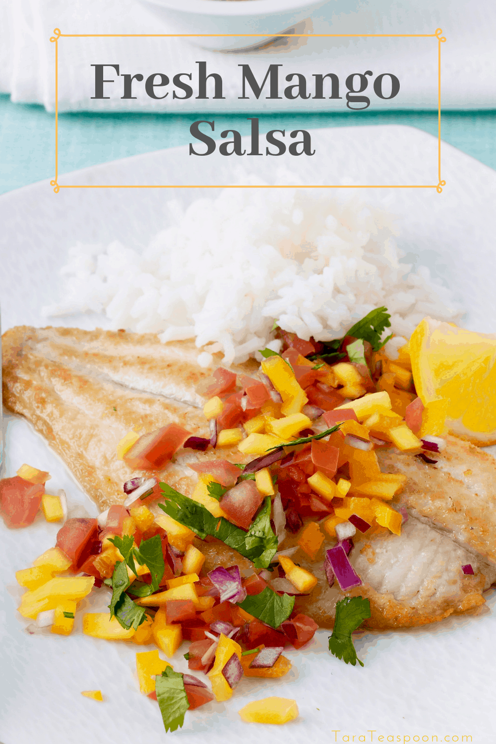 Fish with mango salsa pin