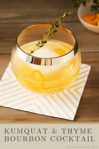 Make a Kumquat and Thyme Cocktail pin image