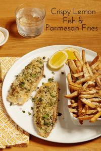 lemon fish with fries pin