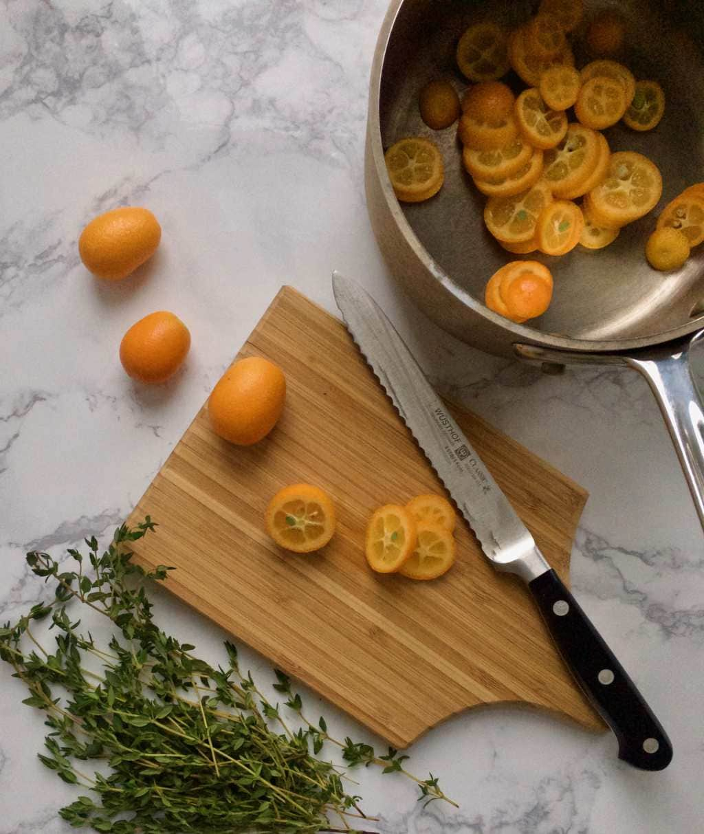 making kumquat simple syrup