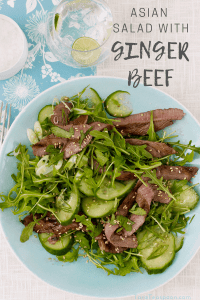 Asian Salad with Ginger Beef pin