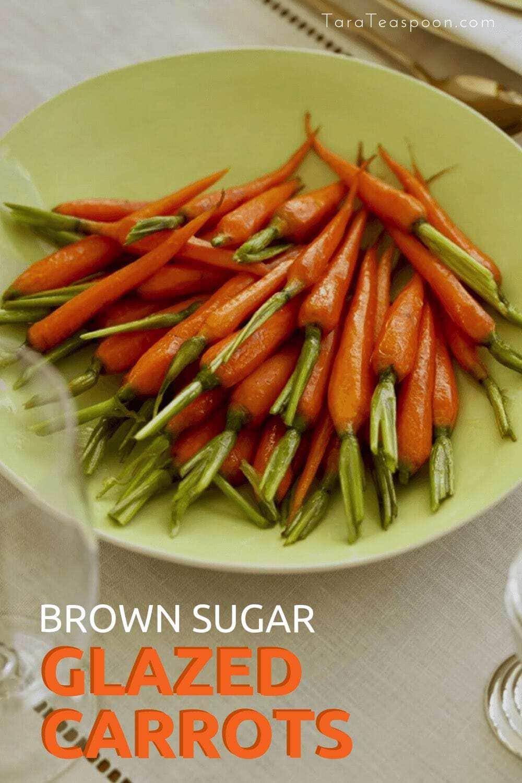 Brown Sugar glazed carrots pin