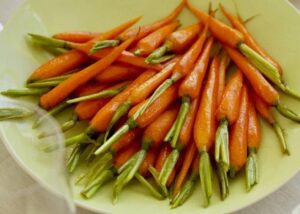 Brown Sugar and White Wine glazed carrots