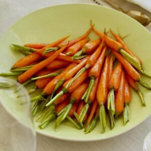 Brown Sugar glazed carrots on Easter table