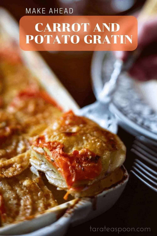 Carrot and Potato Gratin slice