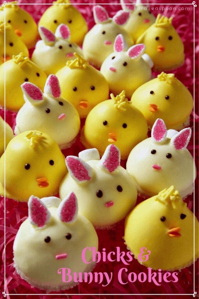Chicks and Bunny Cookies for Easter Pin