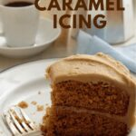 Creamy Caramel Icing Recipe pin