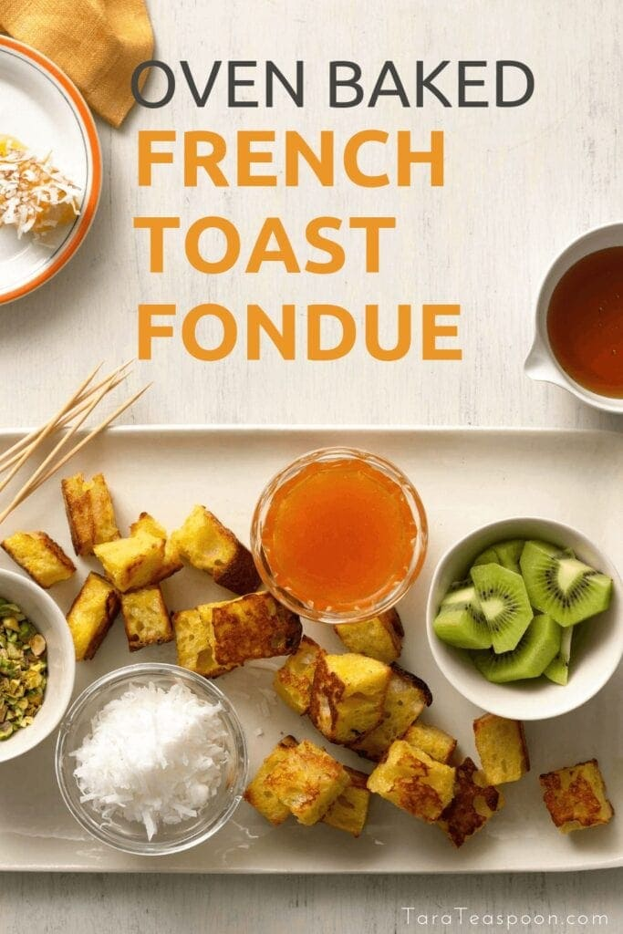 French Toast in the oven with dips