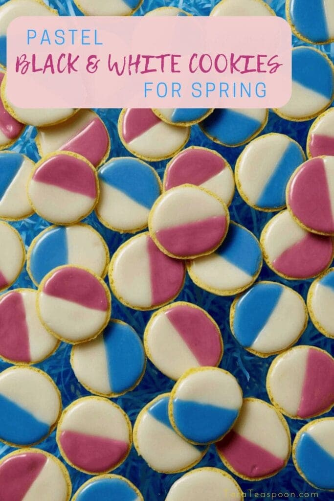 pin for pastel black and white cookies