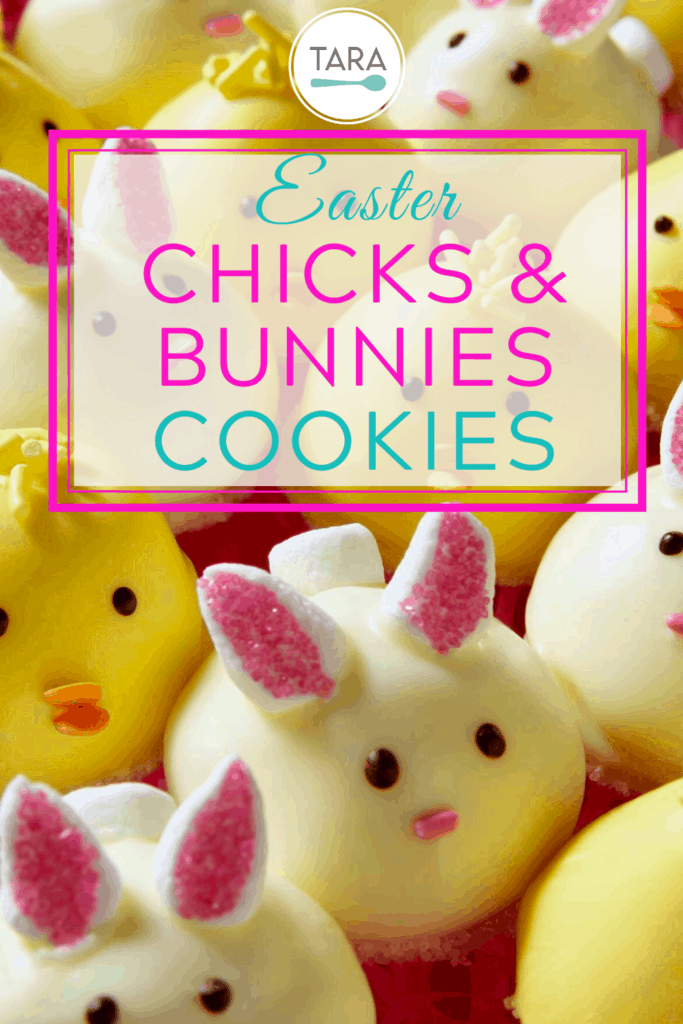 Marshmallow Chick and Bunny Cookies are the perfect bite with a crunchy cookie, fluffy marshmallow and a sweet white chocolate coating.  Plus, the cuteness is irresistible.