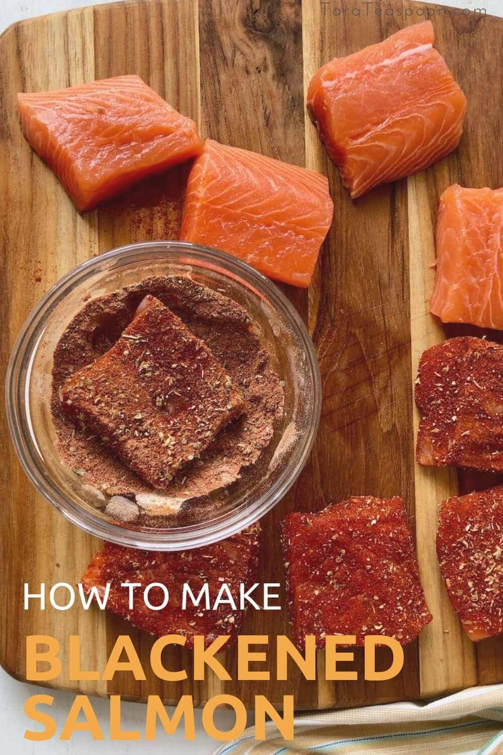 how to make blackened salmon with spice on board