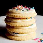 soft sugar cookies and sprinkles