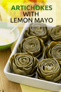 artichokes and lemon dip pin