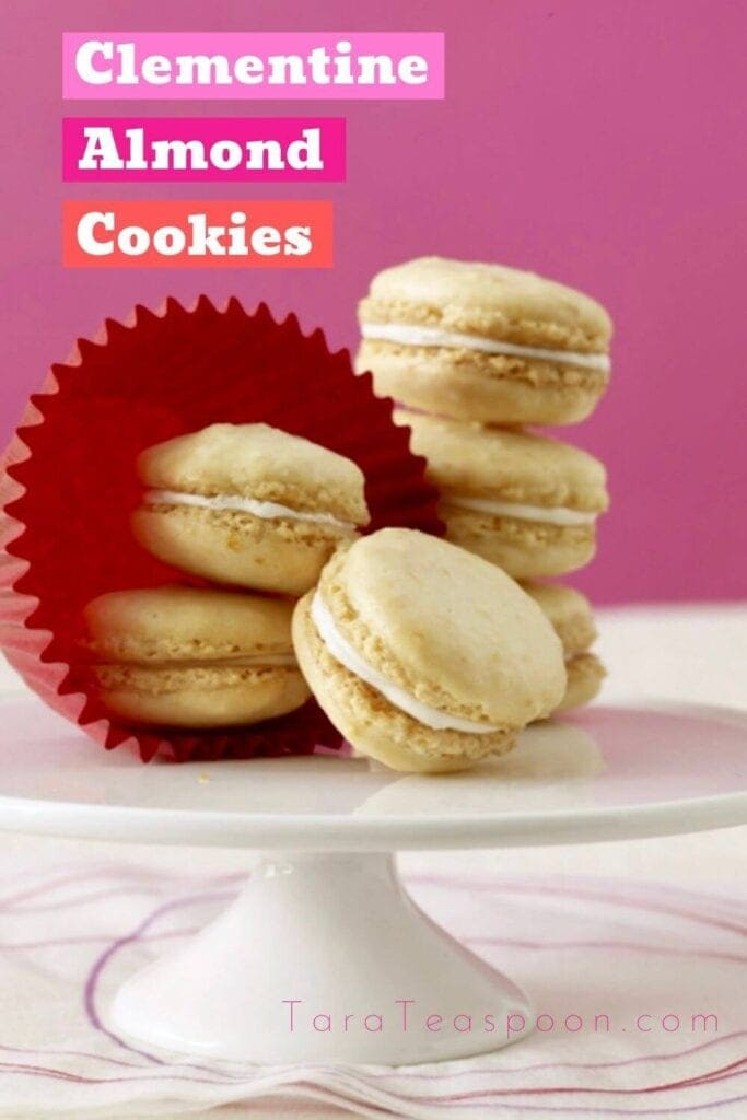 clementine almond cookies pin