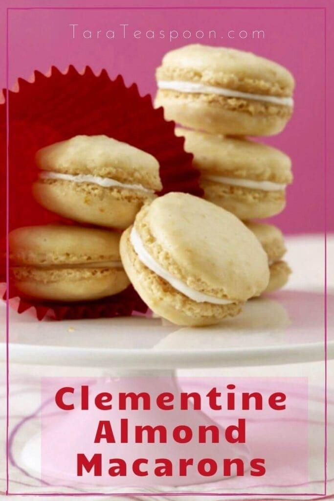 clementine almond macarons pin
