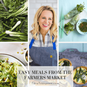 Make meals using farmers market produce
