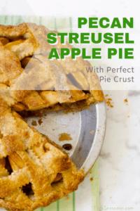 pecan streusel apple pie pin