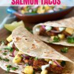 blackened salmon tacos pin