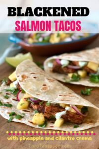 blackened salmon tacos pin
